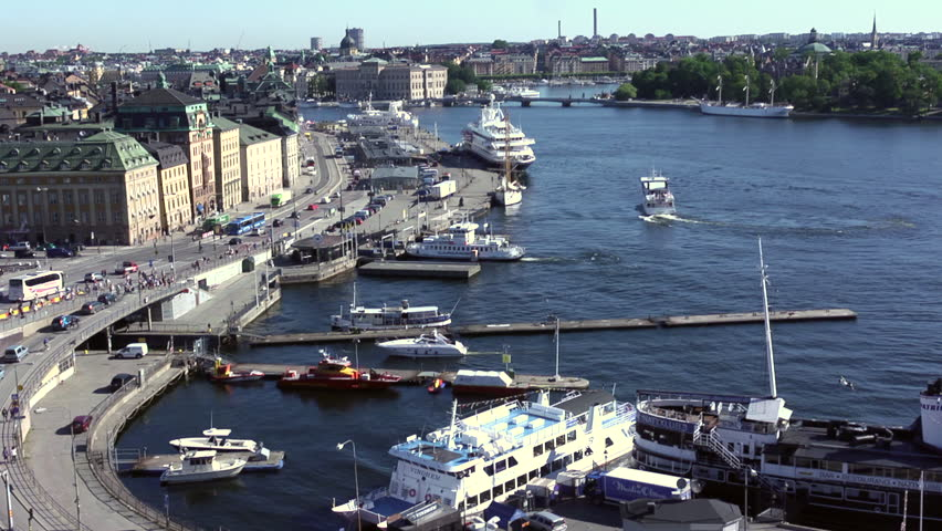 Stockholm's Busy And Scenic Saltsjon Waterway Full Of Ferries And Ships   Shutterstock HD Video #1016596768