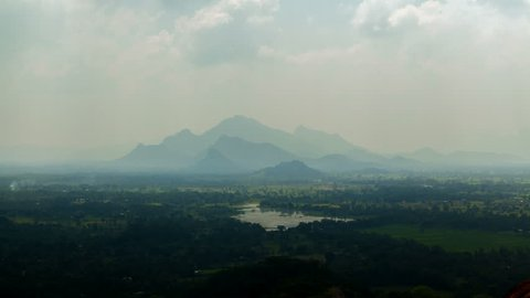 natural landscape from the top Sigiriya, Sri Lanka timelapse