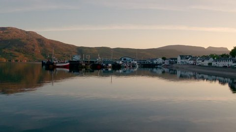 Watching the sun going down over the Summer Isles in the far north west coast highlands of Scotland. Video taken looking over Ullapool village out towards the Summer Isles.