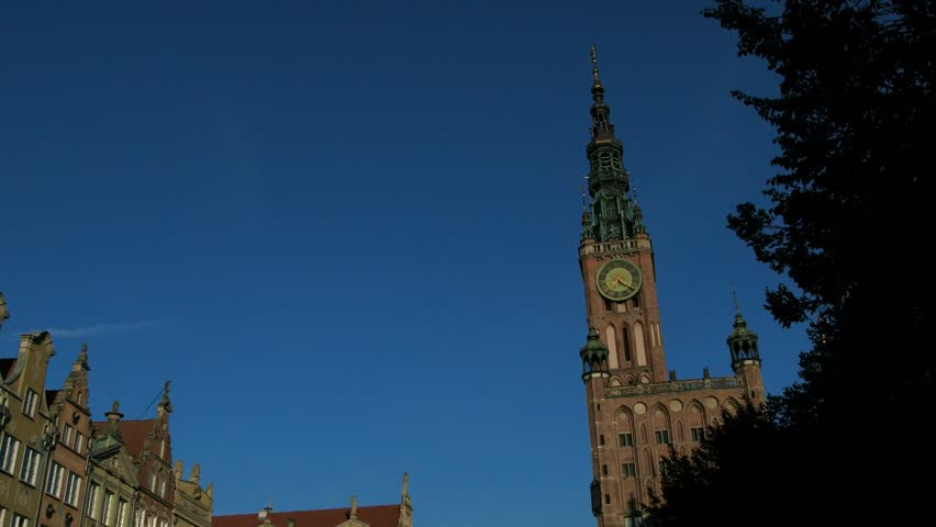 Unikalne Gdansk. Poland. Old Town Street Stock Footage Video (100% Royalty WM17