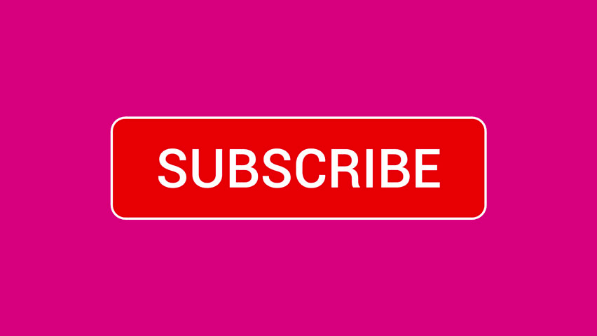 Mouse Clicking a Subscribe Button and Bell Notification with a Dark Pink Background. | Shutterstock HD Video #1016791258