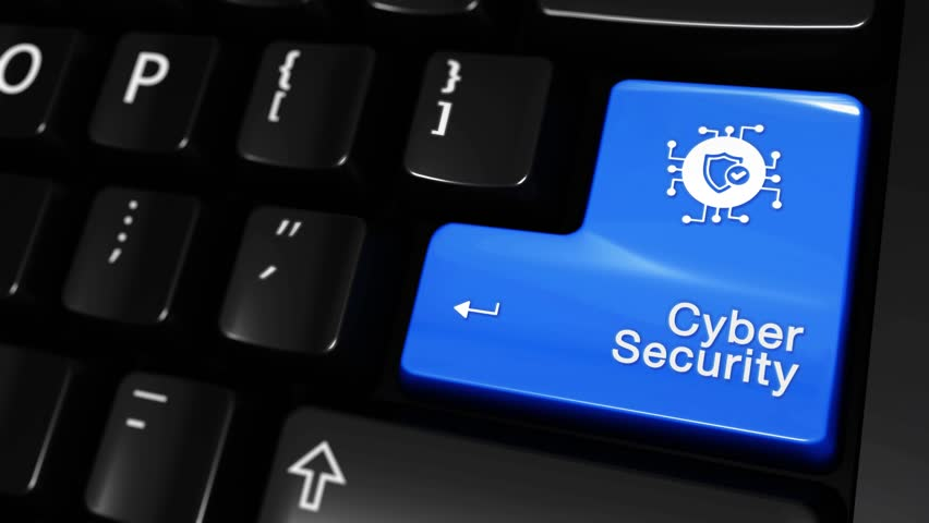 66. Cyber Security Moving Motion On Blue Enter Button On Modern Computer Keyboard with Text and icon Labeled. Selected Focus Key is Pressing Animation. Database Security Concept | Shutterstock HD Video #1016803588