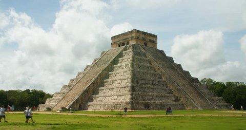 Mayan Pyramids Ruins in Chichen Itza