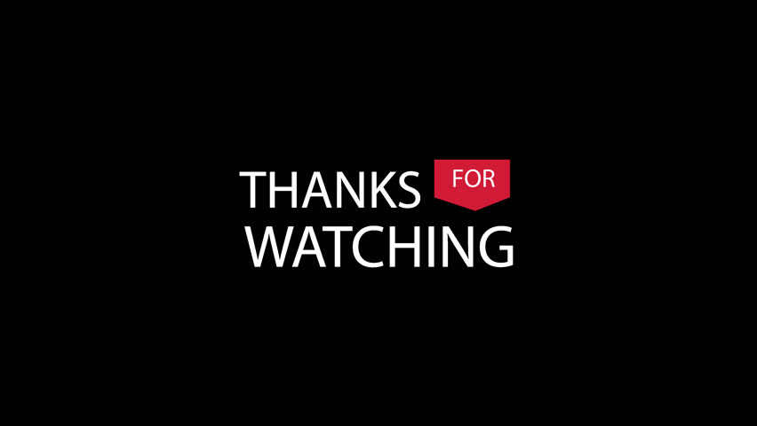 Thanks for watching transparent video | Shutterstock HD Video #1016845558