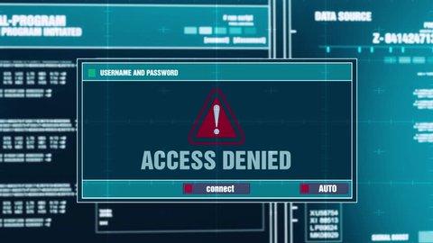 Server Error Warning Notification Generated Vidéos de stock (100