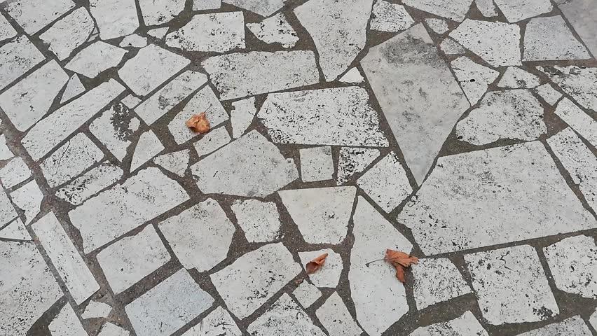 Paving opus incertum with Roman travertine stone   Shutterstock HD Video #1016907988