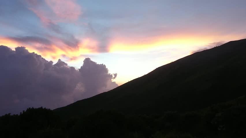 Merbabu Sunset and savanna   Shutterstock HD Video #1016928568