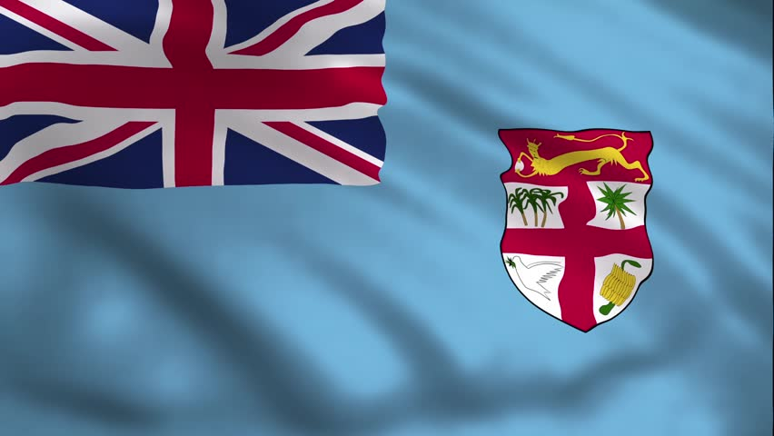 Fiji Country Flag Stock Footage Video 100 Royalty Free 1017063868 Shutterstock