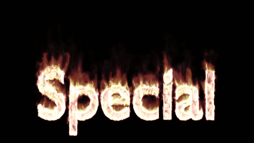 Animated burning or engulf in flames text special for promotional or marketing or commercial use. Fire has transparency and isolated and easy to loop. Mask included.