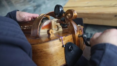 playing a musical instrument lyre