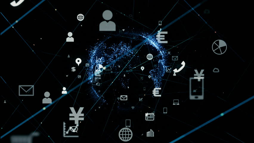 Business and technology concept. IoT (Internet of Things) . Mobile communication network. | Shutterstock HD Video #1017276238