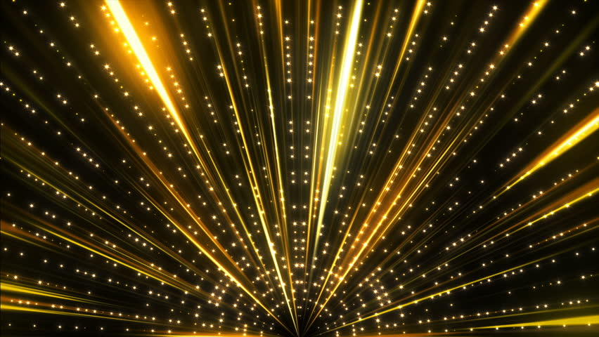 Gold Stage Glitter Glamour Luxury Awards Show Glow Shining Ceremony Lights 4K  Background Animation