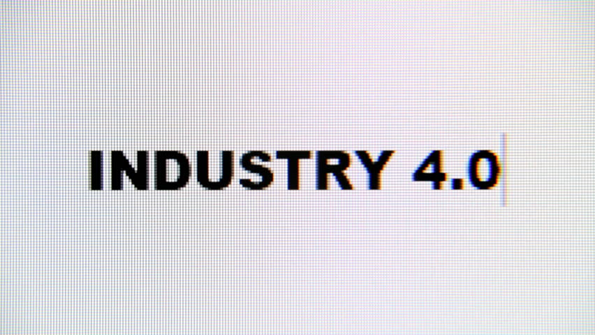 Typing the words Industry 4.0 on a computer monitor. Macro detail shot.  | Shutterstock HD Video #1017282298
