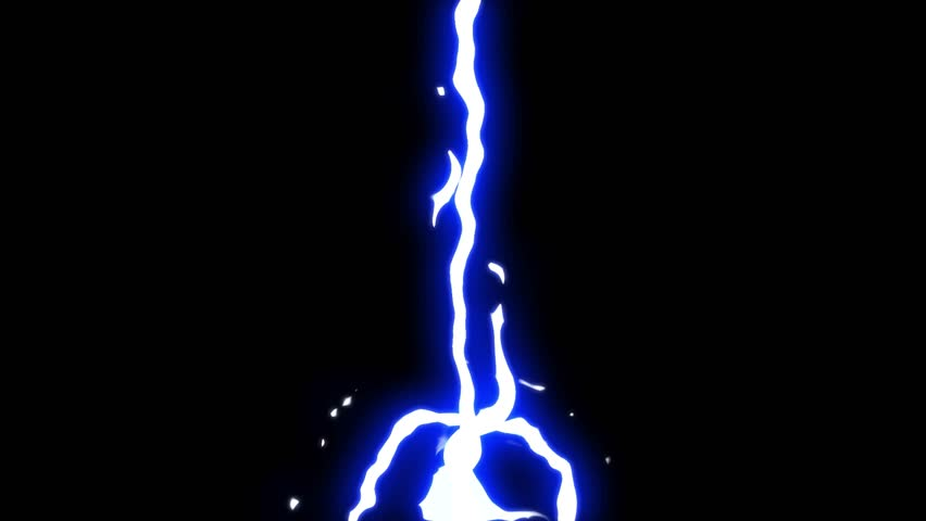 Energy animation, flash fx Energy Element with glow effect, cartoon animation. customize colors. Black background.