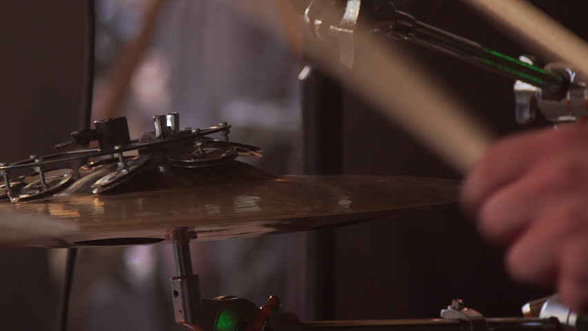 Close up shot of musician playing drums #1017471118