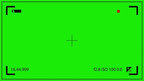 Camcorder Viewfinder Rec Iso Green Screen 3D Rendering Animation
