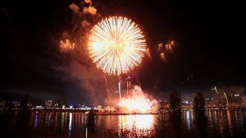 Fireworks Festival in Seoul South Korea.,