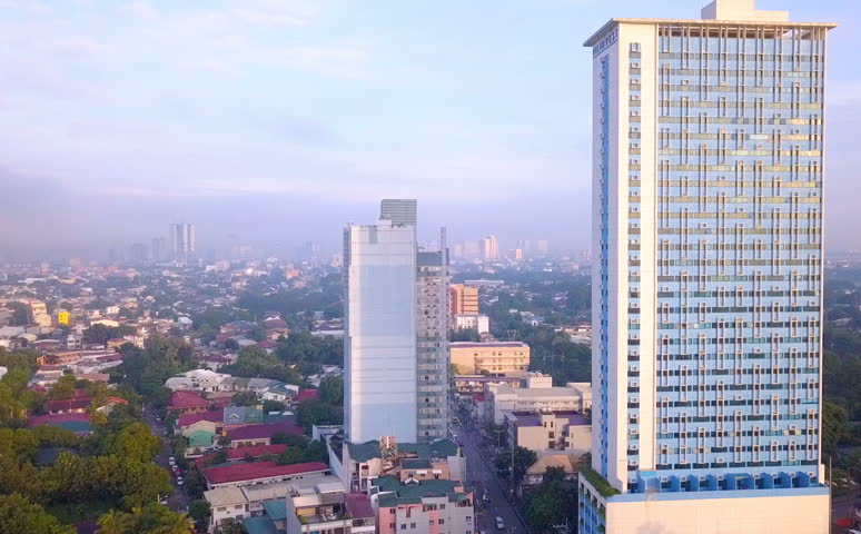 Buildings and Signboards Traffic Along Highway Katipunan Avenue Philippines | Shutterstock HD Video #1017991738