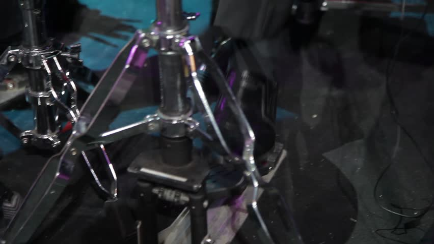 Pedal drum bass music instrument musical percussion rock sound roll rhythm object metal entertainment concert band beat kit drummer | Shutterstock HD Video #1018023688