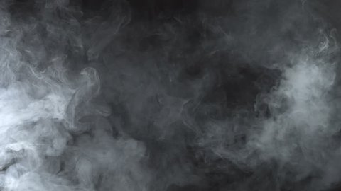White smoky cloud of e-cigarette, 4k