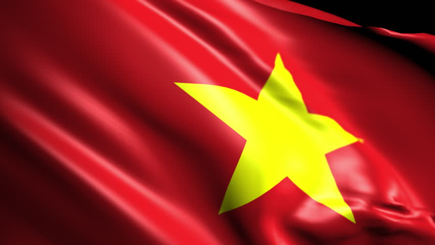 Flag of Vietnam. Animated Slow pan to the right. Transition element | Shutterstock HD Video #1018072198