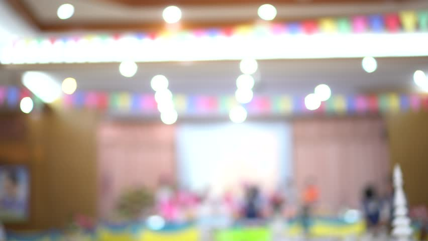 Abstract blurred of conference hall or seminar room photo with light bokeh background | Shutterstock HD Video #1018092388