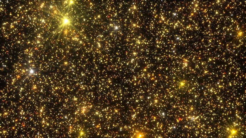 Golden Particles Glitter Glamour Rain 4K Christmas | Shutterstock HD Video #1018154908