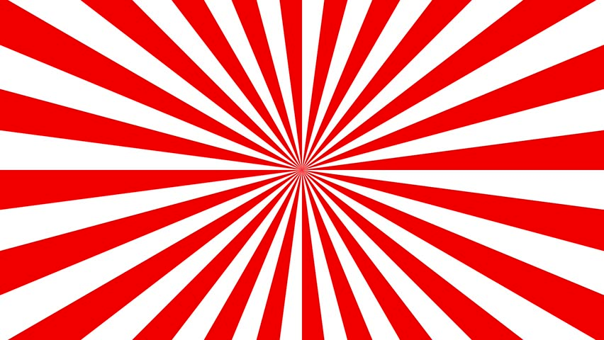 Red retro sunburst background, striped abstract rotating background animation. | Shutterstock HD Video #1018161718