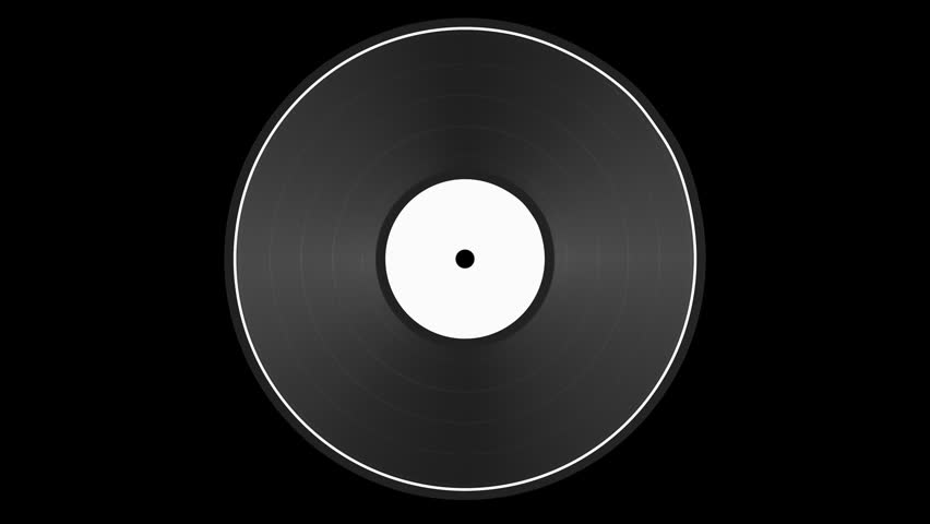 Blank Vinyl Record slow spinning loop on a black background with included alpha matte. Great for use as is or for compositing. 3D rendered animation. | Shutterstock HD Video #1018548148