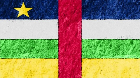 stop motion pastel chalk crayon drawn Central African Republic flag cartoon animation seamless loop background new quality national patriotic colorful symbol video footage