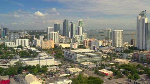 Braman BMW Miami >> Miami Fl Usa October 28 2018 Aerial Footage Midtown Miami Edgewater Approach Braman Bmw Cadillac Car Dealership