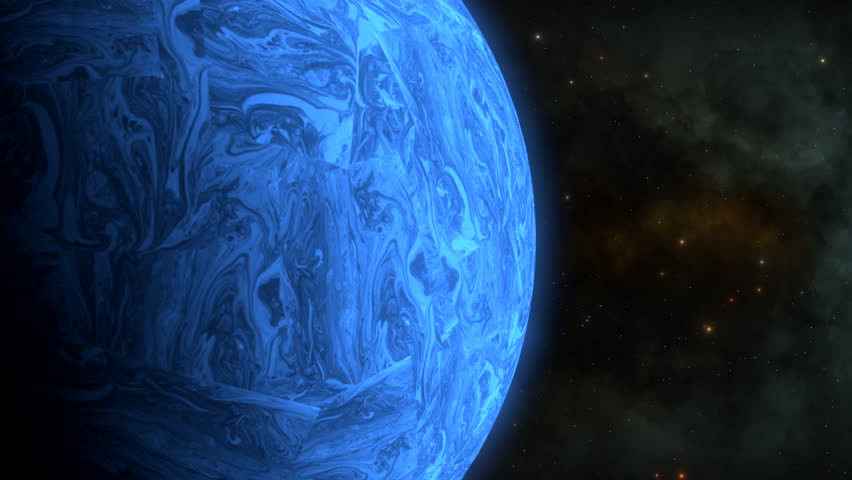 Blue martian planet.