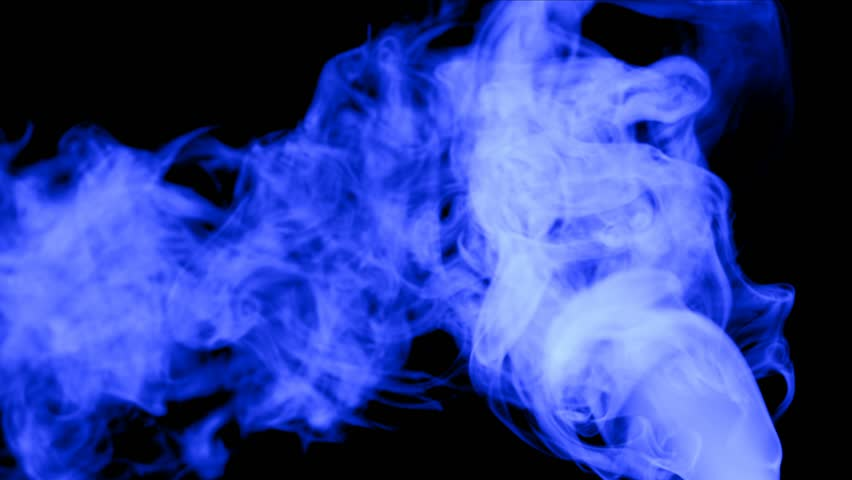 Blue evaporation or of gas of smoke on black background | Shutterstock HD Video #1018722778