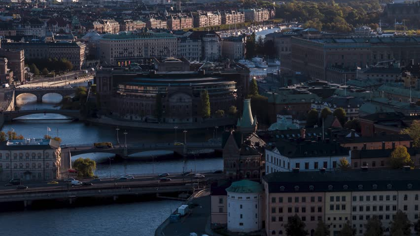 Aerial View of Stockholm, Sweden | Shutterstock HD Video #1018770748
