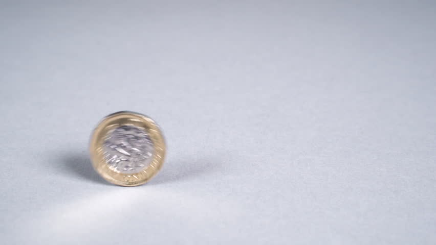 British Pound Coins Rolling Past Left to Right | Shutterstock HD Video #1019065018