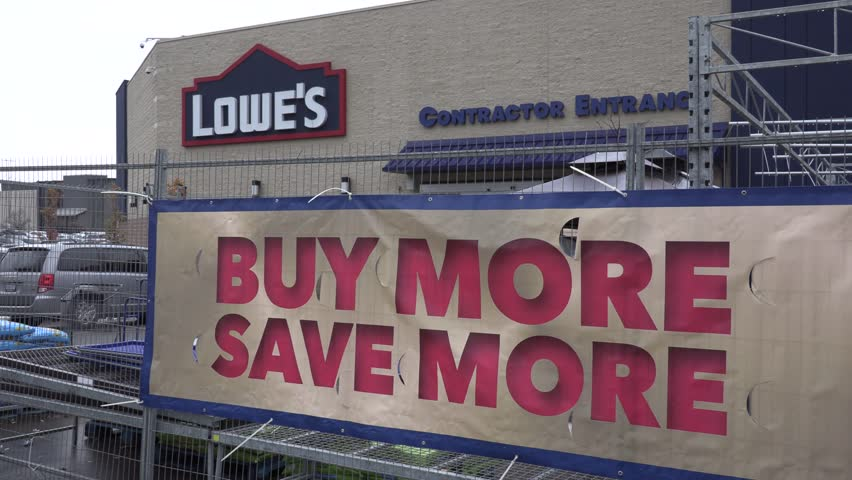 Toronto, Ontario, Canada November 2018 Lowes hardware and building supply store exteriors | Shutterstock HD Video #1019163778