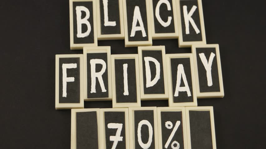 Black Friday, message on the black background | Shutterstock HD Video #1019224888