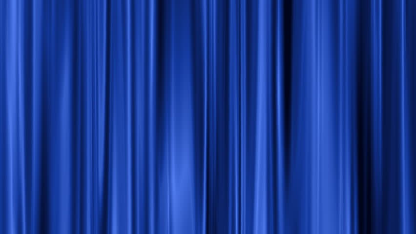 Blue Curtain Swaying Background Stock Footage Video (100% Royalty