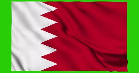 Flag of Bahrain waving on a loopable 4K animation