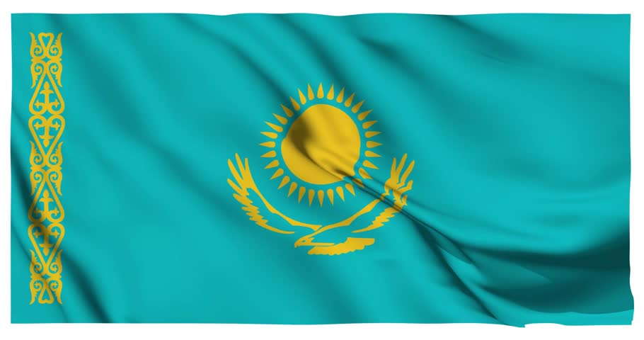 Картинки анимации флаг казахстана
