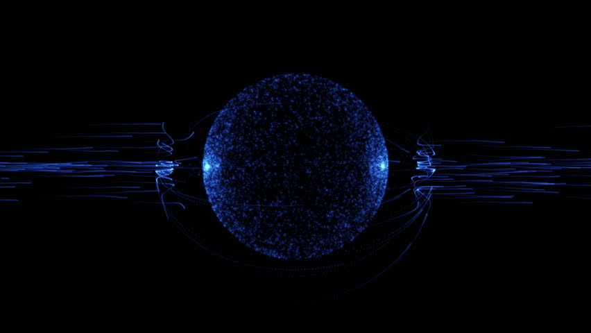 Blue rays attacking a globe which sits in an impenetrable atmosphere.