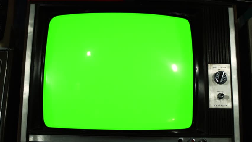 "80s TV Green Screen with Many 80s TVs. Dolly Out Slow. You can Replace Green Screen with the Footage or Picture you Want with ""Keying"" effect in After Effects (check out tutorials on YouTube).  