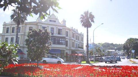Exterior shot of The Esplanade Hotel, Auckland, New Zealand, 2018