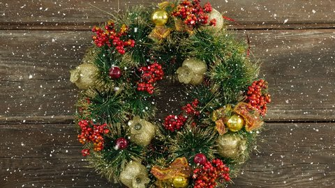 Christmas Wreath Transparent Background Stock Video Footage 4k And