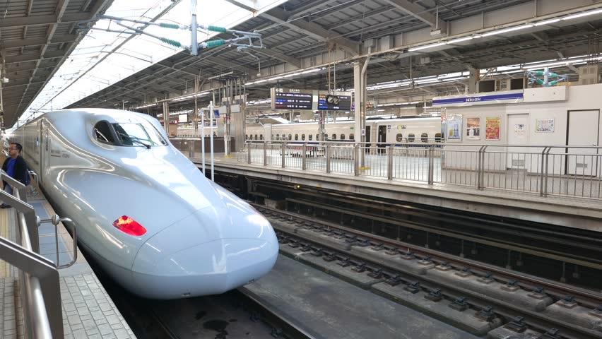 Shin-osaka, Japan-november 11, 2018: Shinkansen Stock Footage Video (100%  Royalty-free) 1020060568 | Shutterstock