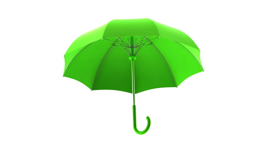 689c66a96 Rotating Green Umbrella On A White Background Animation With Alpha