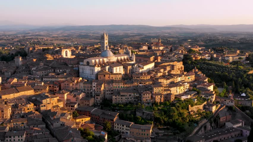 Aerial View of Siena - Italy | Shutterstock HD Video #1020434578