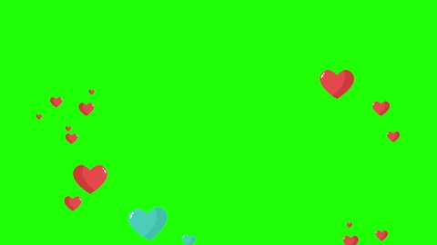 Animation of love with green screen for happy valentine's day