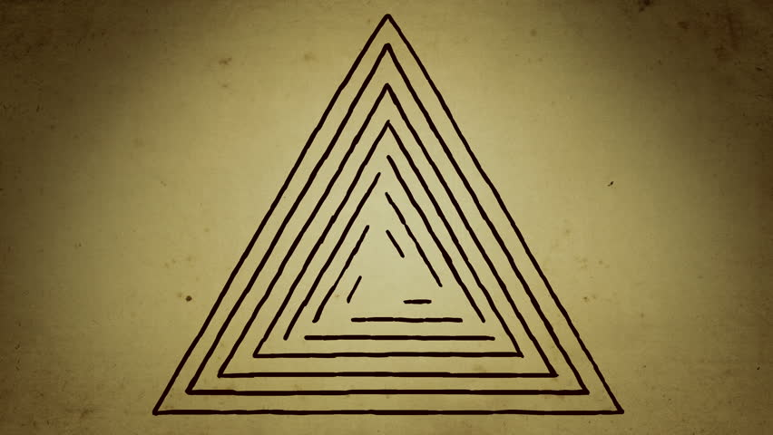 Mystical triangle lines drawing animation | Shutterstock HD Video #1020667108