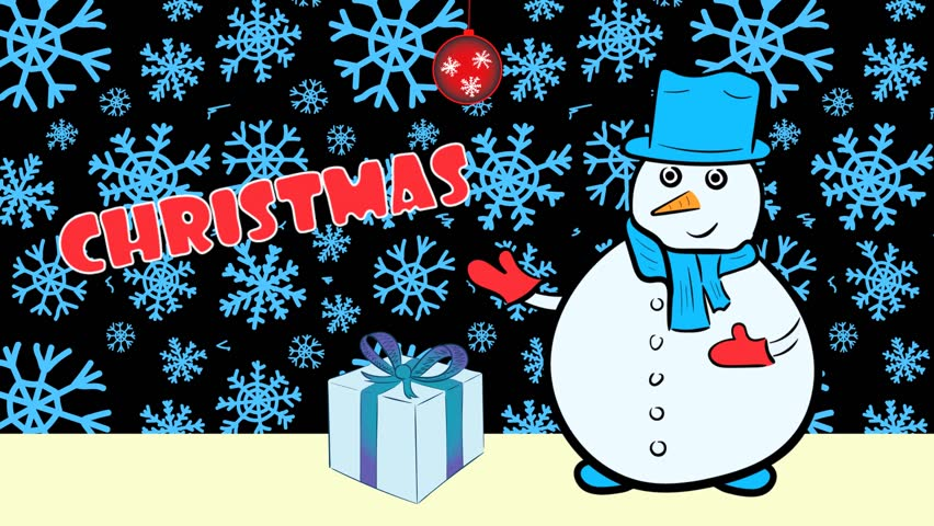 Christmas snowmen and sale blue snow | Shutterstock HD Video #1020702238